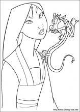 mulan coloring page # 4