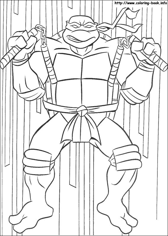 Teenage Mutant Ninja Turtles coloring picture
