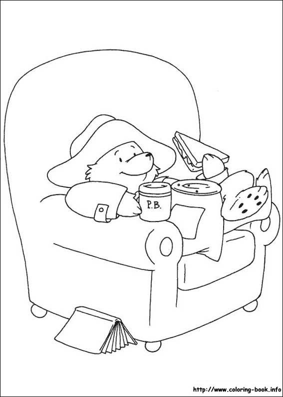 paddington bear coloring pages # 12