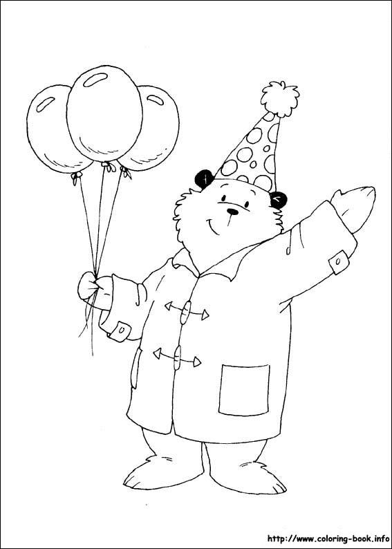 paddington bear coloring pages # 24