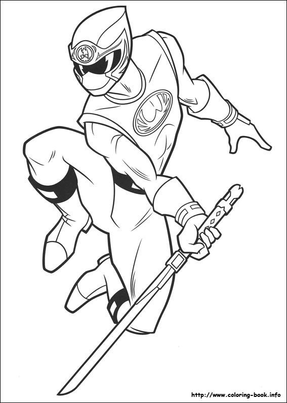 power rangers coloring page # 9
