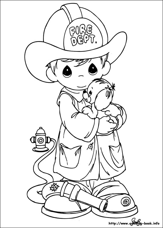 Coloring Pages Precious Moments Coloring Book Helping