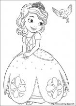 sofia the first printable coloring pages # 1