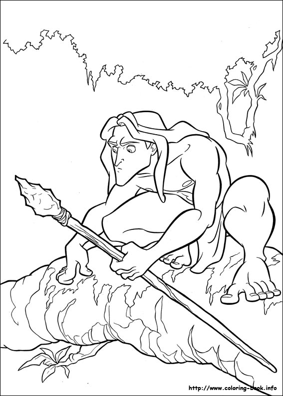 images tarzan coloring pages - photo#15