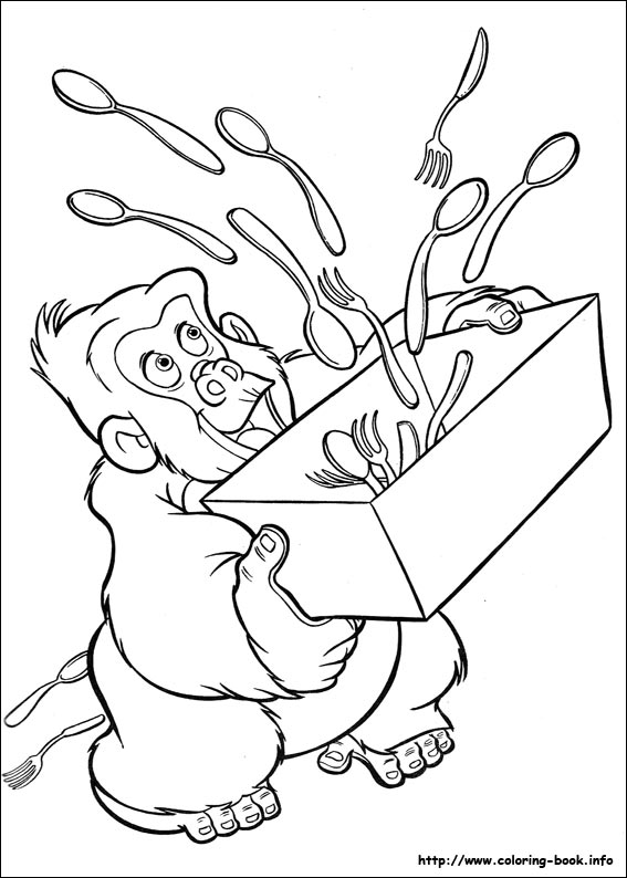 images tarzan coloring pages - photo#31