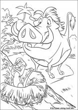 lion king coloring page # 20