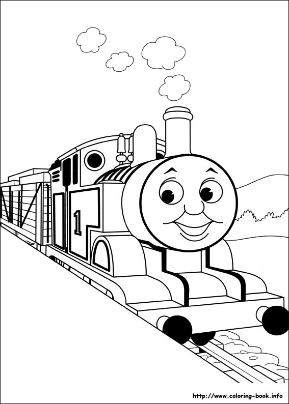 thomas the train color page   Coloring Page for kids
