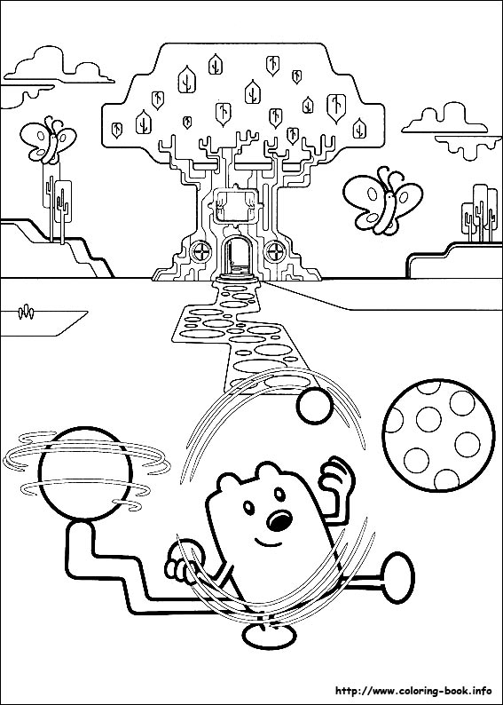 wow wow wubbzy coloring pages # 28