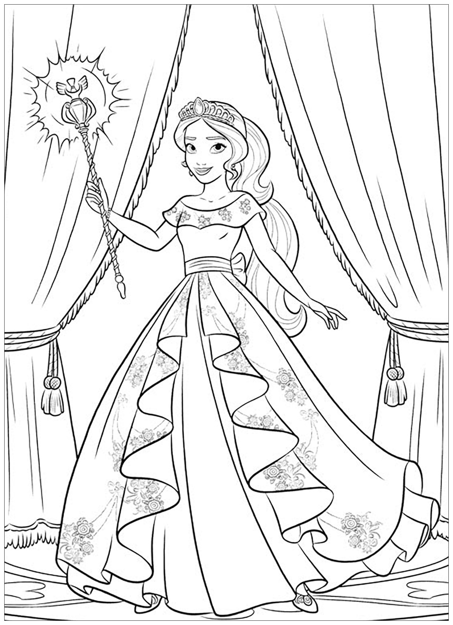 Elena Avalor 91671 Elena Avalor Coloring For Kids