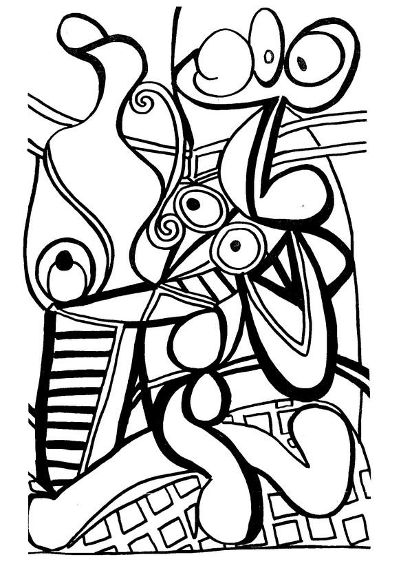 Ausmalen als Anti-Stress Picasso  Grande nature morte au