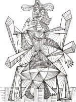Ausmalen als Anti Stress Picasso  Siebdruck Picasso 8