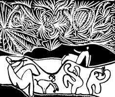 Ausmalen als Anti Stress Picasso  Bacchanale III 9