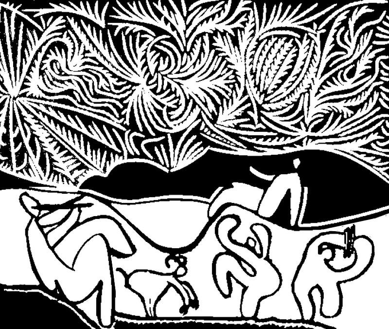 Ausmalen als Anti-Stress Picasso  Bacchanale III 9