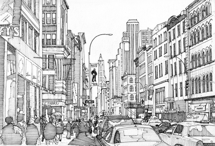 Art Therapy Coloring Page New York Broadway 9