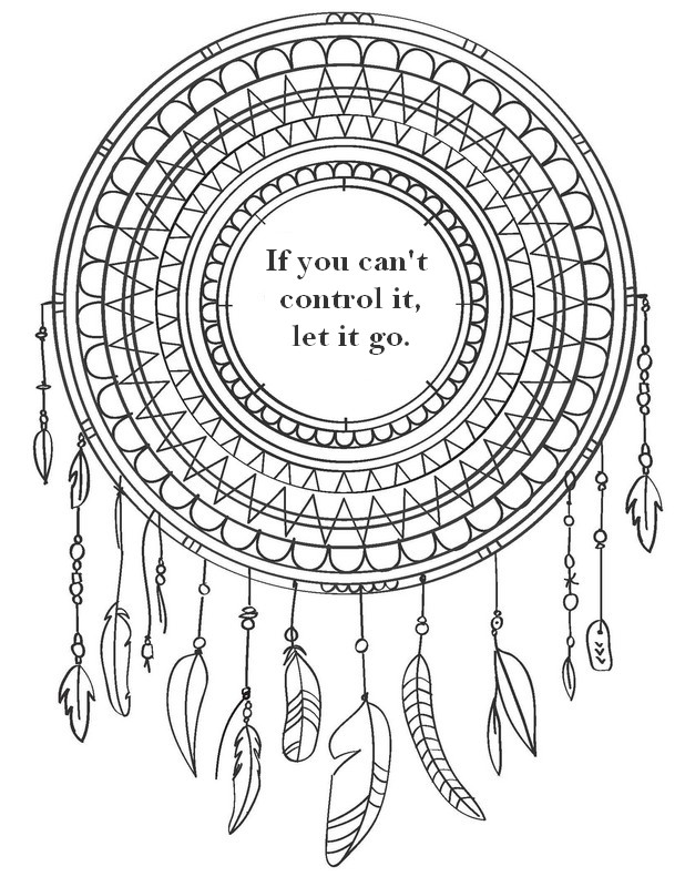 Art Therapy coloring page Zen quotes : If you can't