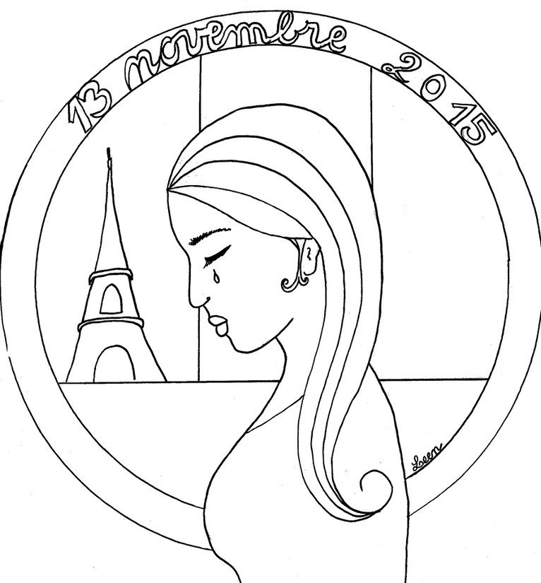 Art Therapy coloring page Peace for Paris 8