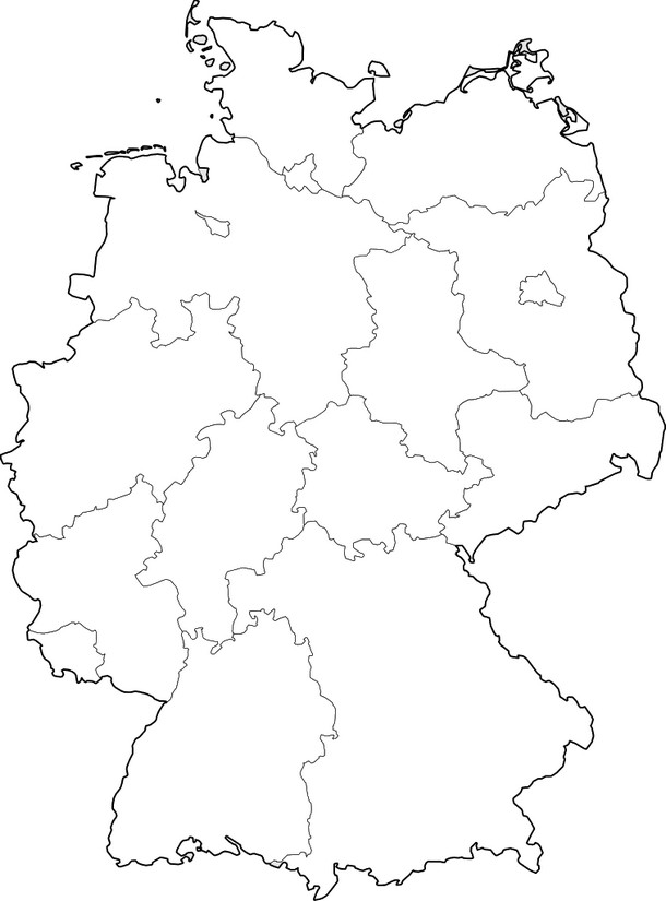 Art Therapy coloring page Germany : Map of Germany 10