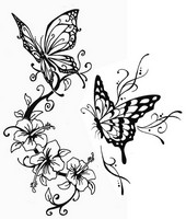 Anti Stress Coloring Pages Butterflies