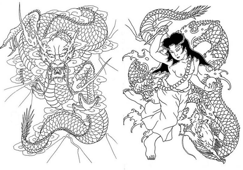 Ausmalen Als Anti Stress Japan Japan Schlangen 12
