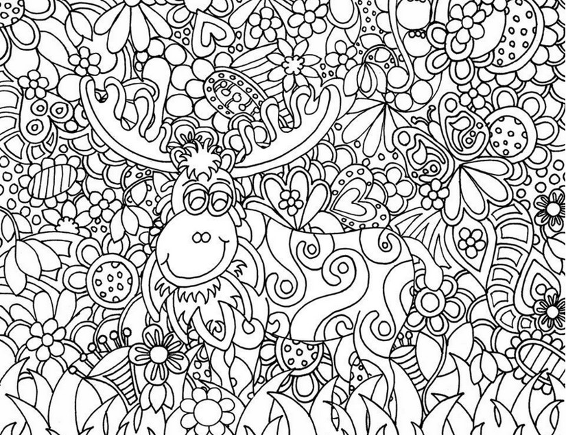 Art Therapy Coloring Page Christmas Santa Clauss