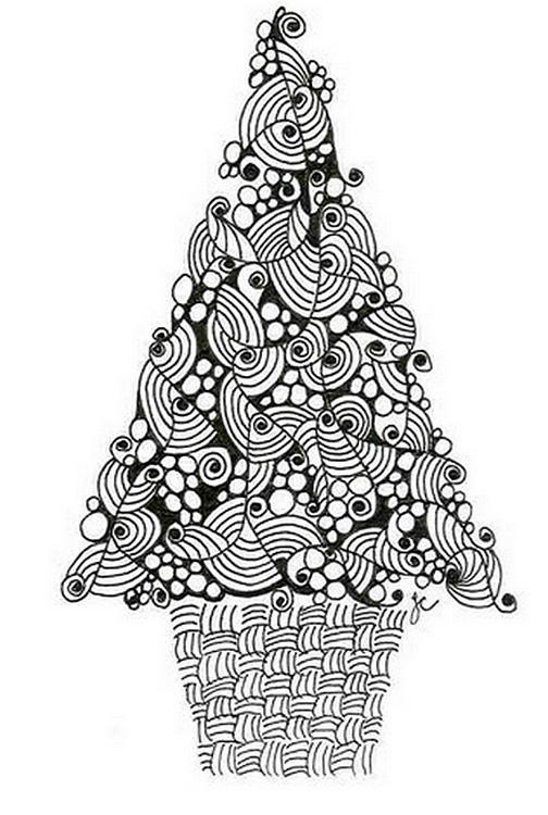 Ausmalen als Anti-Stress weihnachten  Tannenbaum 4