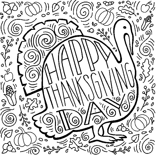Art Therapy coloring page Thanksgiving 10