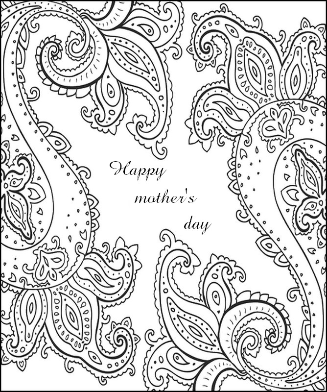 Art Therapy coloring page Mother's day : Happy mother's
