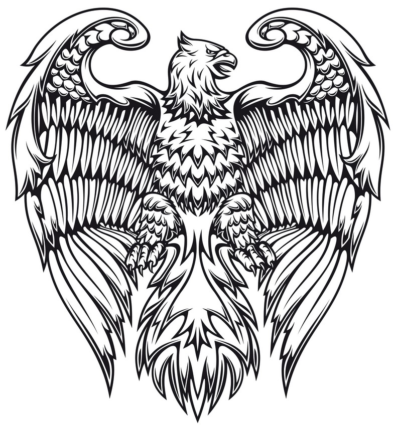 Art Therapy coloring page Fantastic animals : Griffin 5