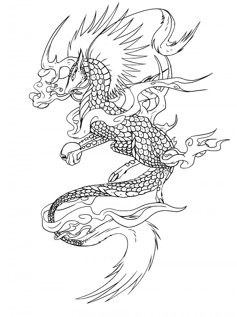 Art Therapy coloring page Fantastic animals 9