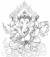 Dibujos para colorear antiestrés India