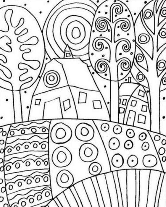 Disegno da colorar antistress Gustav Klimt 3