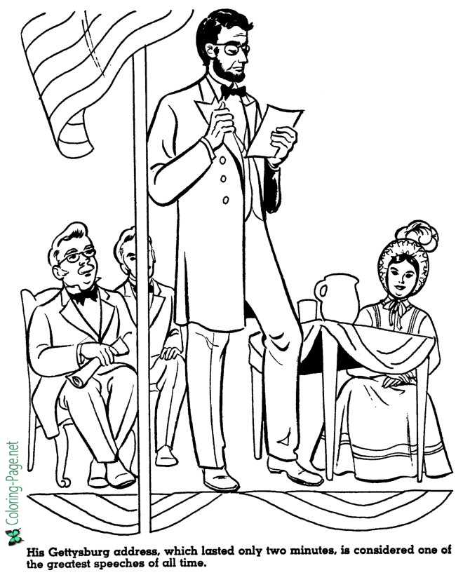 American History for Kids Coloring Pages
