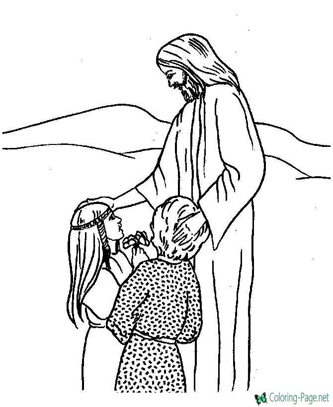 Bible Coloring Page of Jesus