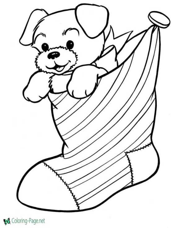 stocking coloring pages # 12