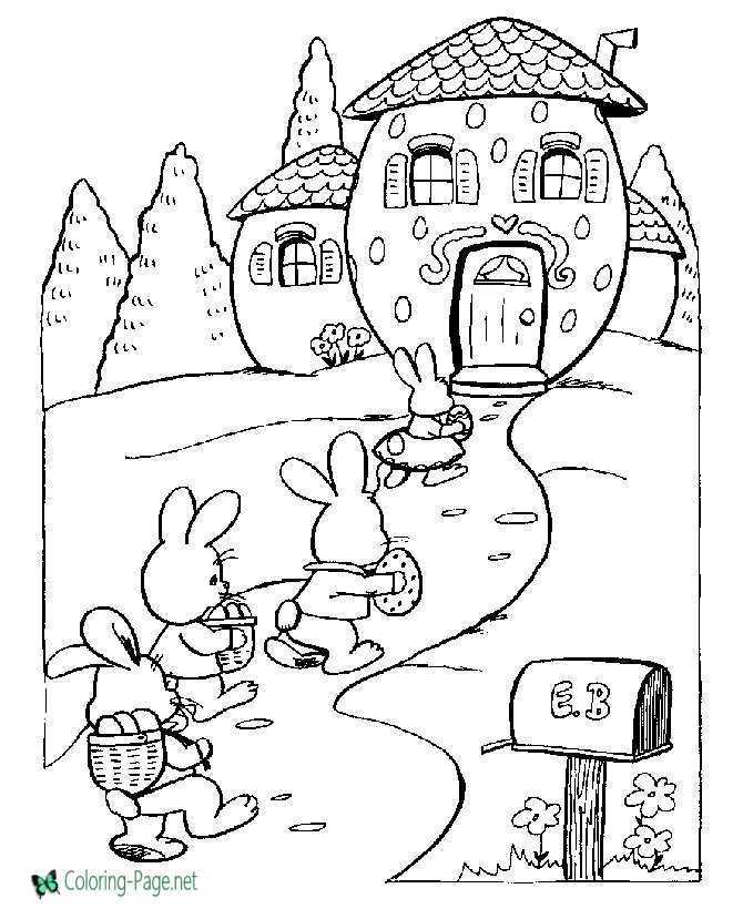 Click A Picture Below For The Printable Easter Coloring Page