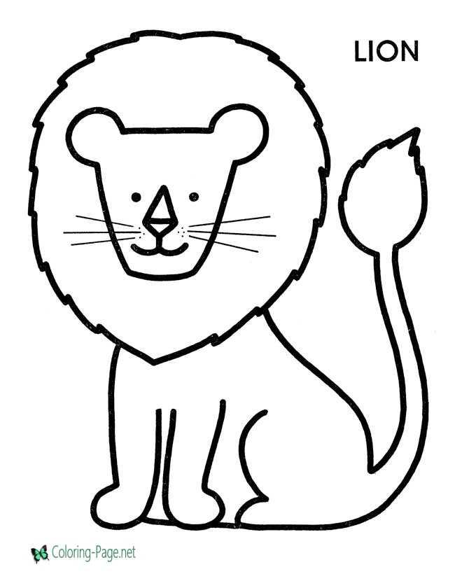 Preschool Coloring Pages Printable Lion