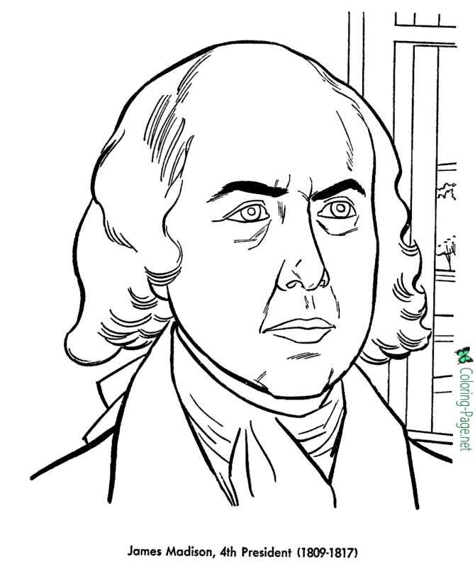 US Presidents Coloring Pages James Madison