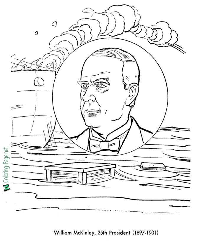US Presidents Coloring Pages William McKinley