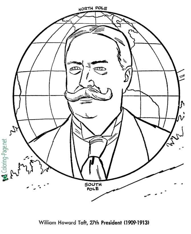US Presidents Coloring Pages William Taft
