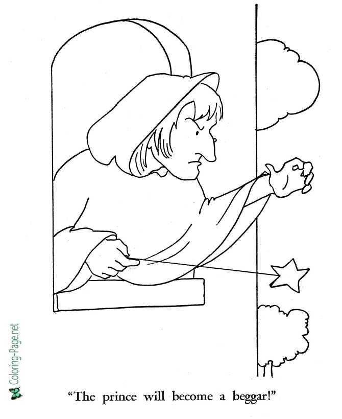 Fairy Tale Rapunzel Coloring Page 07