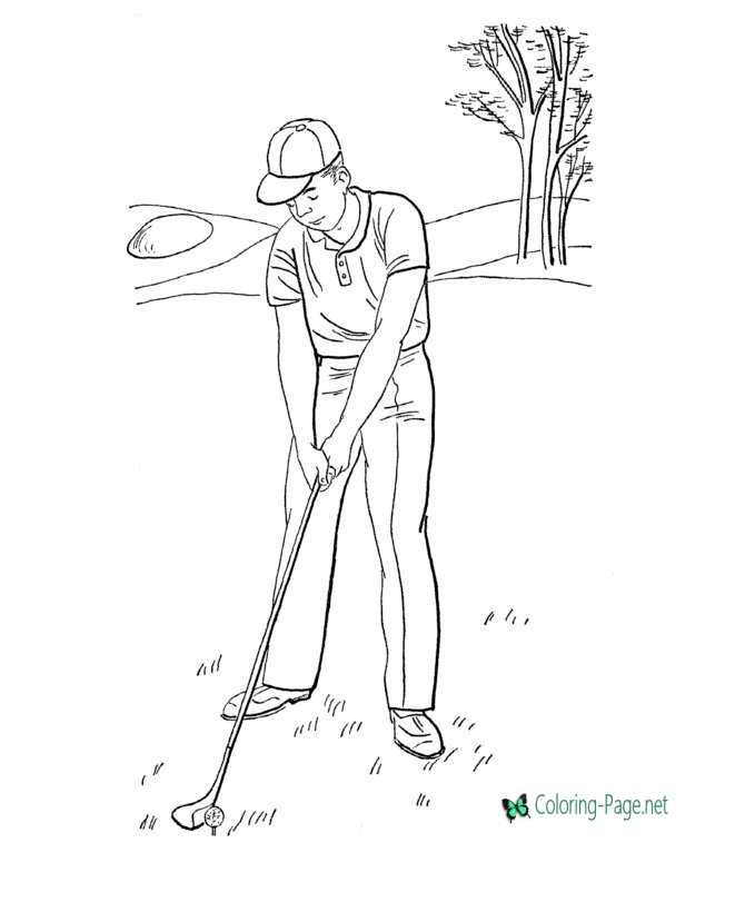 Golf Sports Coloring Pages