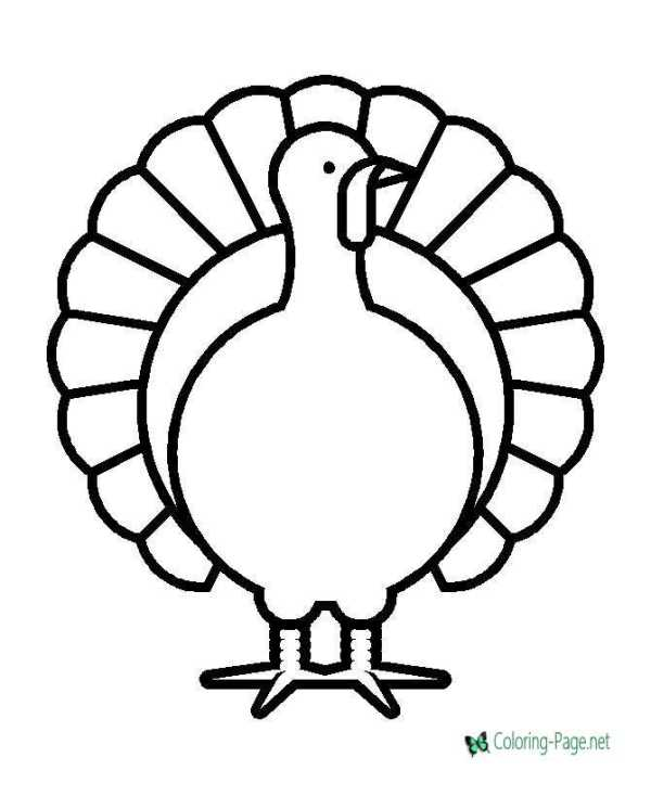 coloring page turkey # 7