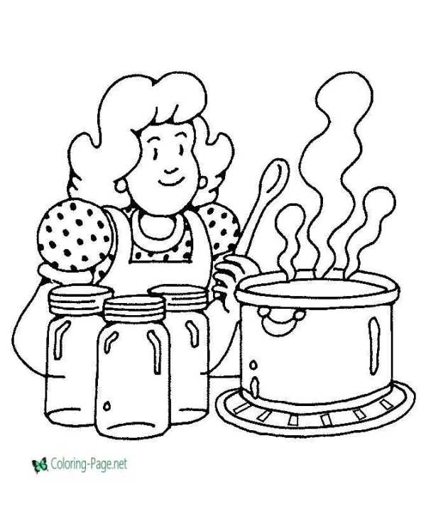 cooking coloring pages # 5