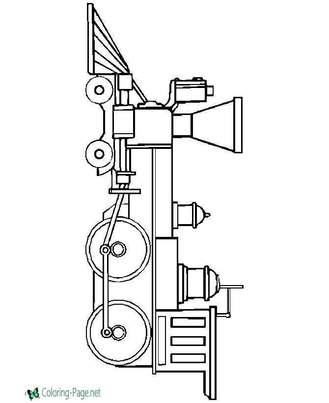 Train Coloring Pages Locomotive
