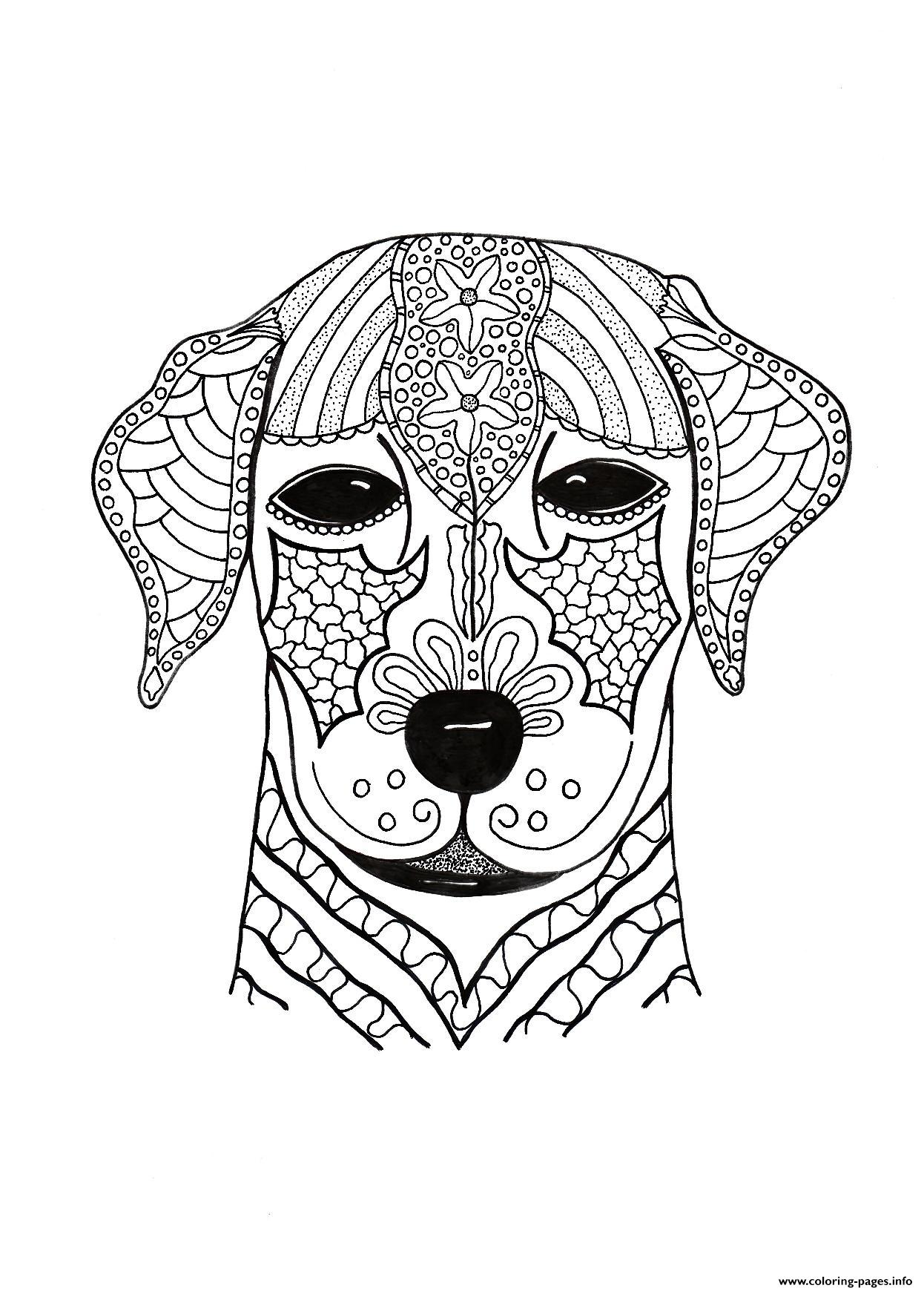 I Woof You Adult Hard Advanced Coloring Pages Printable