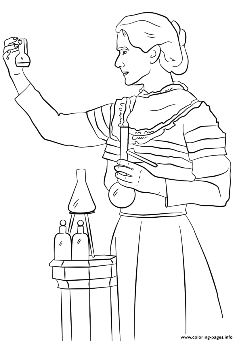 Marie Curie Coloring Pages Printable