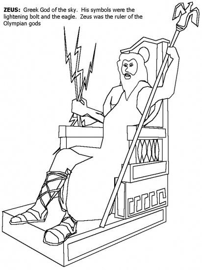 Greek Mythology Coloring Pages Mount Olympus, Check Out
