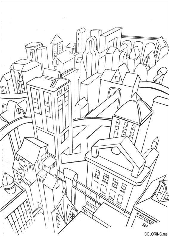 Free coloring pages of city paris