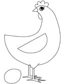 Chickens, Hens and Roosters Coloring Pages