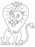 The Lion and the Mouse coloring pages